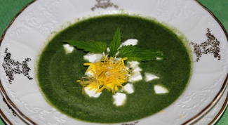 How to cook soup with nettle and egg