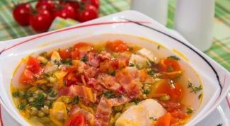 Как приготовить суп с машем и беконом