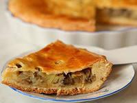 Вкусный пирог с картошкой и грибами
