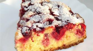 Вкусный пирог с вишней