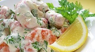 Рецепты салатов из креветок