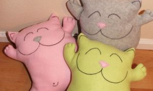 Как сделать подушку-кота