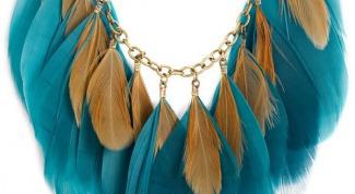 Делаем украшения из перьев