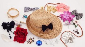 Как украсить соломенную шляпу