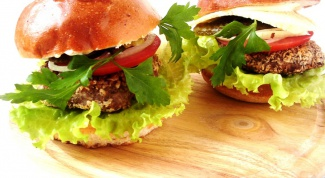Фасолевый гамбургер