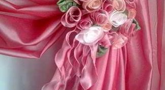 """Как сделать захват для штор """"Букет роз"""""""