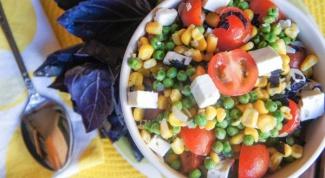 Рецепты салатов с кукурузой и горошком