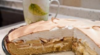 Как приготовить песочный творожно-яблочный пирог
