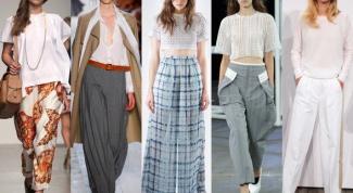 Какие брюки в моде в сезоне весна-лето 2014