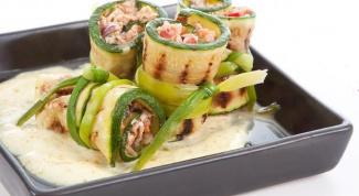 Как приготовить роллы из цукини с тунцом и овощами