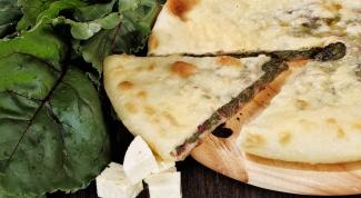 Цахараджын с сыром и ботвой свеклы
