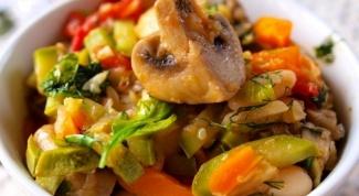 Овощное рагу с грибами для поста