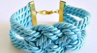Как сделать браслет из крученого шнура