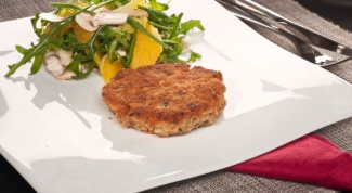 Овсяный гамбургер с салатом из апельсина