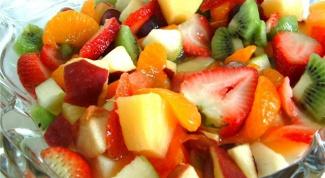 Сладкие салаты с творогом