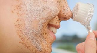 Скраб для чувствительной кожи лица с корицей