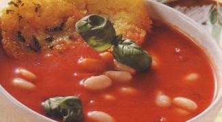 Фасолевый суп с чипсами