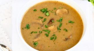 Как приготовить крем-суп из грибов