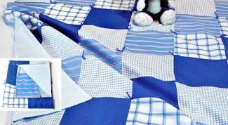 Как сшить лоскутное одеяло из старых рубашек