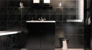 Интерьер ванной в черном цвете