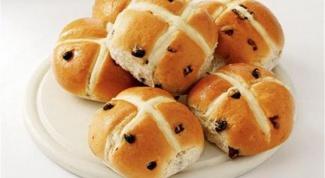 """Английские пасхальные булочки """"Hot Cross Buns"""""""