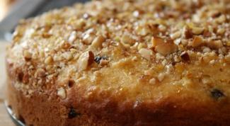 Как приготовить постный пирог с орехами