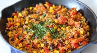 Как приготовить киноа с овощами