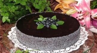 Чернично-маковый торт