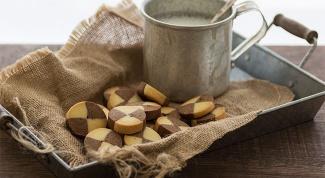 Как приготовить красивое печенье двух цветов