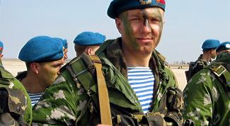 Какие войска носят синие береты