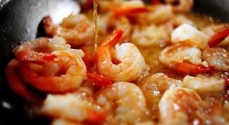 Как приготовить креветки на обед