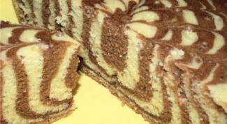 Пирог «Зебра» в мультиварке