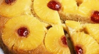 Ананасовый пирог с вишней в мультиварке