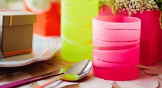Как сделать неоновые вазы