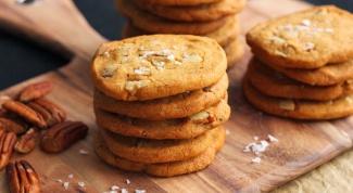 Как приготовить печенье с орехами пекан и морской солью