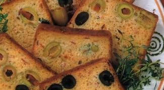 Хлеб по-итальянски с оливками и маслинами в хлебопечке