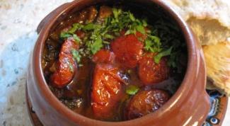 Горячие горшочки с мясом по-грузински