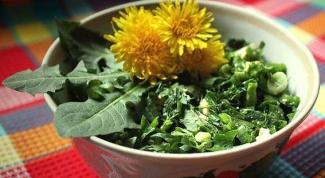 Как приготовить весенний салат из одуванчиков