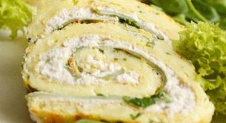 Рулет с куриной грудкой и сливочным сыром