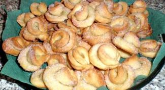 Печенье творожное «шляпки»
