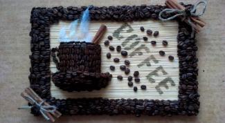 Своими руками делаем картину из зерен кофе