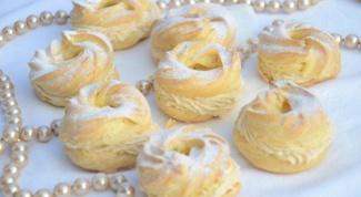 Заварные пирожки с сырным кремом