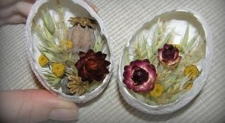 Пасхальный сувенир - цветочная композиция