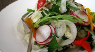 What kind of salad you can cook with radishes