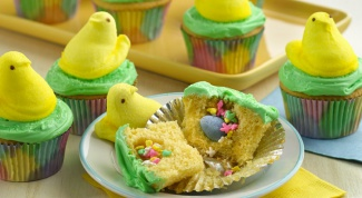 How to make cupcakes with a surprise on Easter