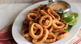 How delicious to cook squid rings