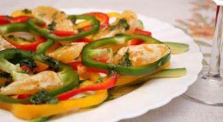 Как готовить салаты с болгарским перцем