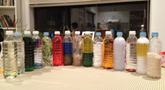 What crafts can be made from bottles of shampoo