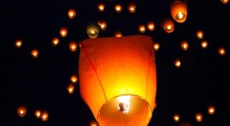 Как делать китайские небесные фонарики