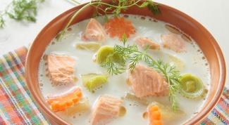 Как приготовить сливочный суп с лососем